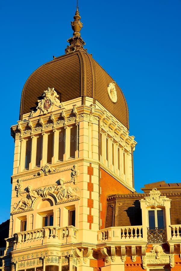 Byggnation av Royal Asturien Mining Company Madrid, Spanien royaltyfri bild