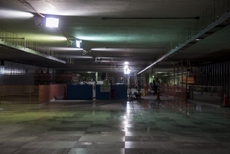 Byggnationer av Rio Metro till OS:erna 2016 royaltyfri foto