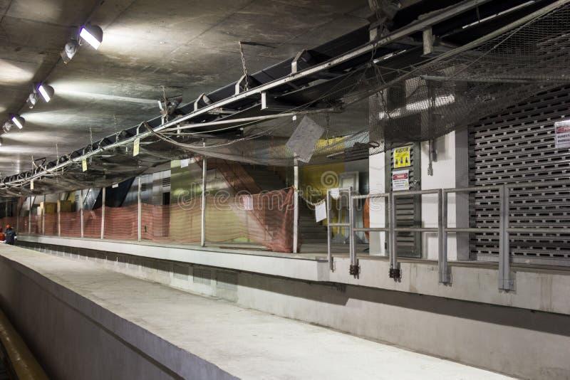 Byggnationer av Rio Metro till OS:erna 2016 arkivfoto