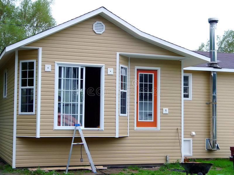 byggt få huset nytt arkivbild