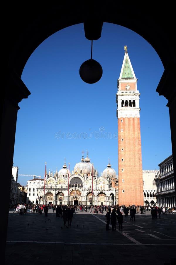 Byggt i Venetian gotisk stil arkivfoto