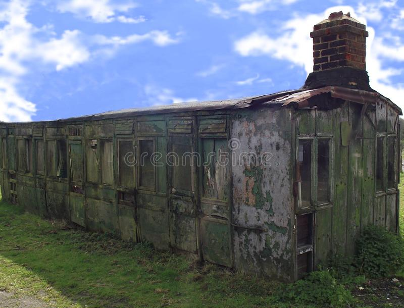 A bygone era the days of luxury. Railway coach from a bygone age now left to rot once used by only the rich stock images
