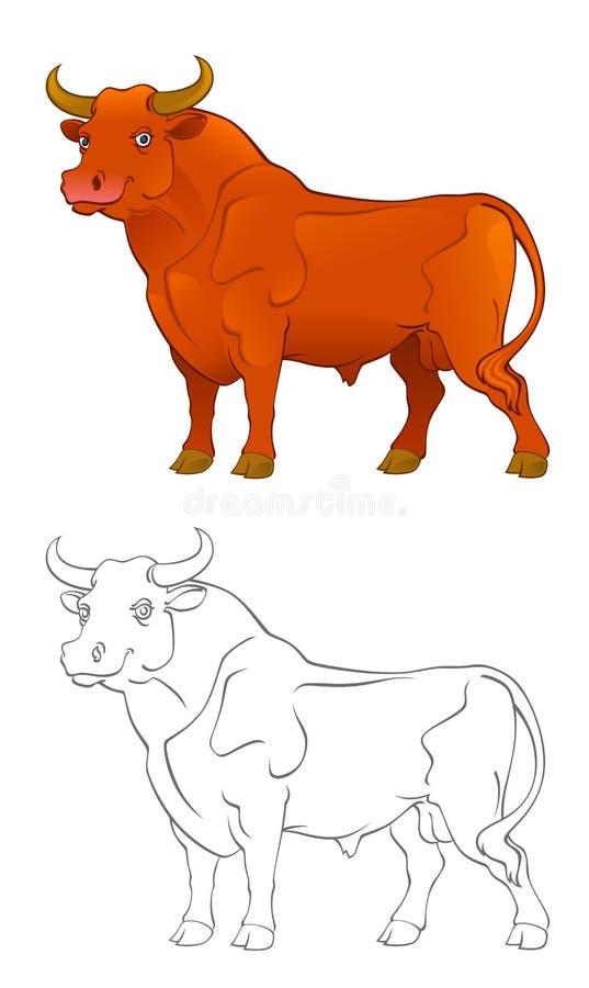 byk czerwień royalty ilustracja