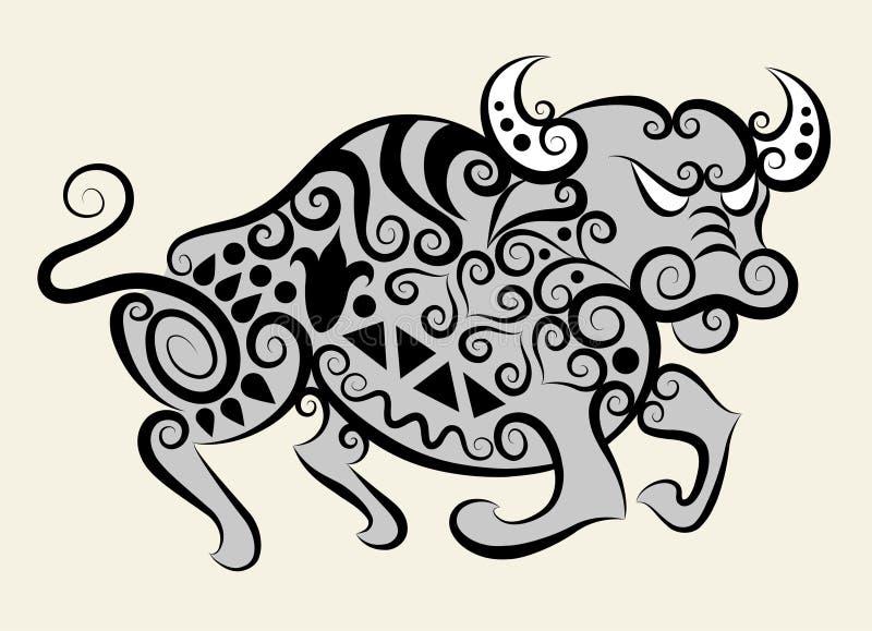 byk dekoracyjny royalty ilustracja