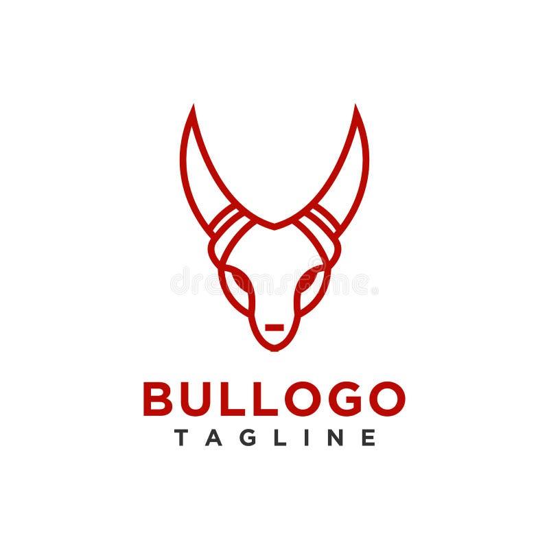Byka logo projekta minimalisty prosty styl dla biznesu lub firmy gatunku royalty ilustracja