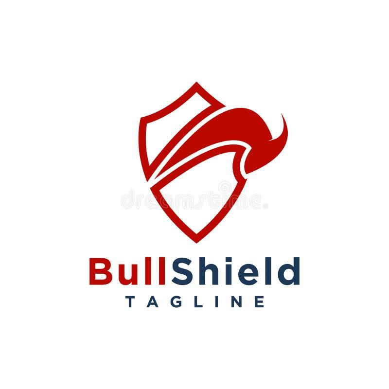 Byka logo projekta minimalisty prosty styl dla biznesu lub firmy gatunku ilustracja wektor