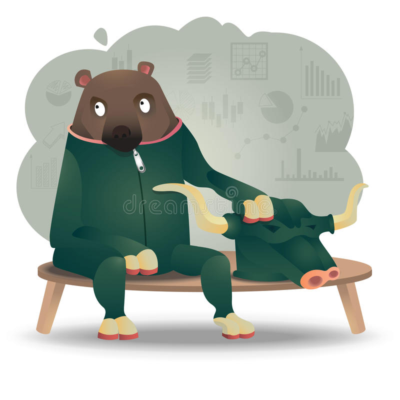 Byka niedźwiedź royalty ilustracja