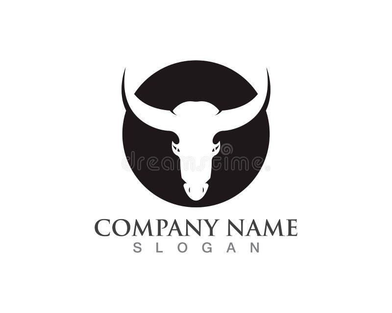 Byka rogu logo i symbolu szablonu ikony app ilustracji