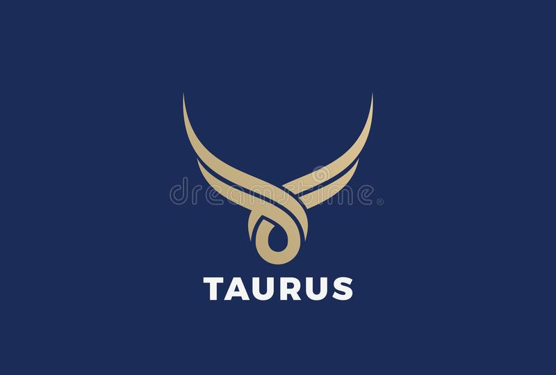 Byka Taurus sylwetki loga wektor Steakhouse bu ilustracja wektor
