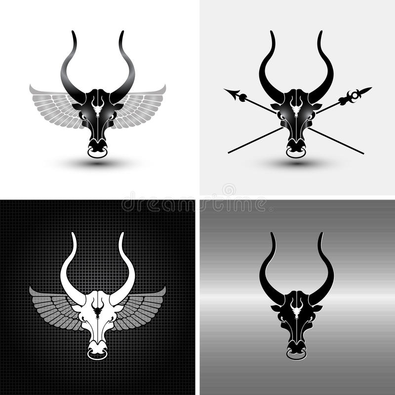byki cztery royalty ilustracja
