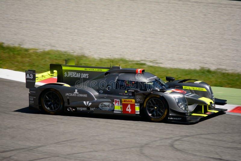 ByKolles het Rennen LMP1 Prototypetest in Monza stock afbeeldingen