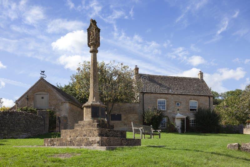 Bykors på Guiting makt, Cotswolds, Gloucestershire, England arkivbilder