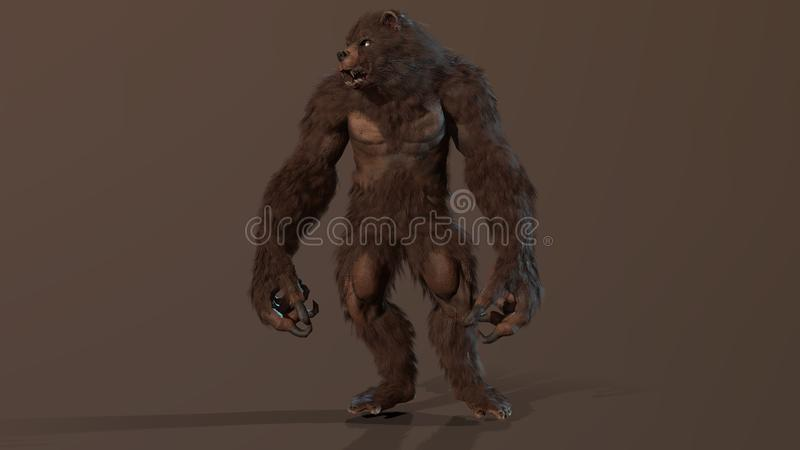Byli niedźwiadkowi 3d odpłacają się wizerunek royalty ilustracja