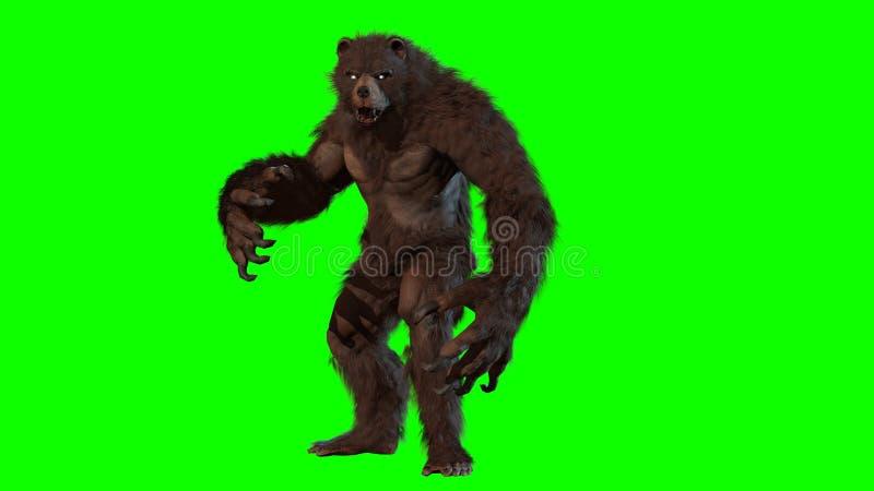 Byli niedźwiadkowi 3d odpłacają się wizerunek ilustracji