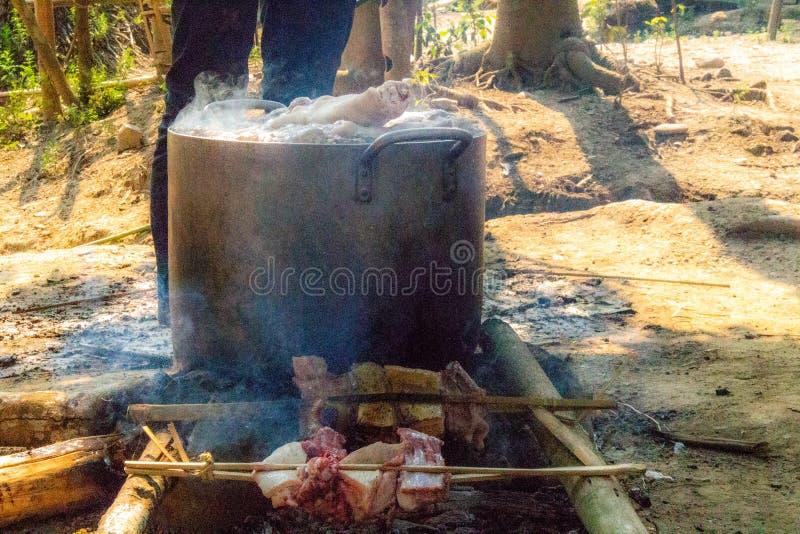 Bylunchkruka Laos royaltyfria bilder