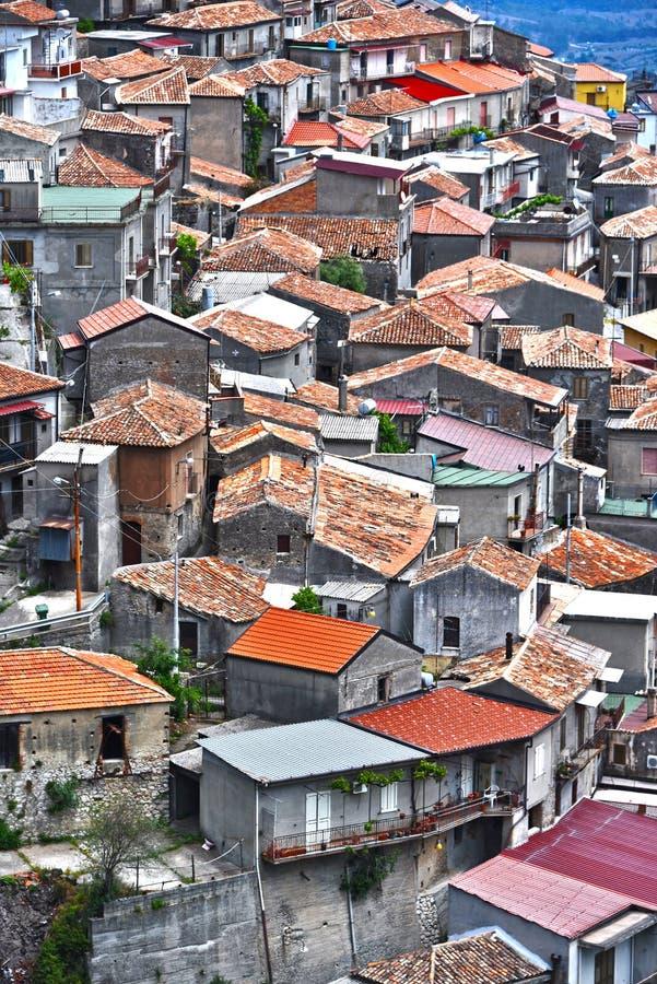 Byn av Staiti i landskapet av Reggio Calabria, Italien arkivbilder