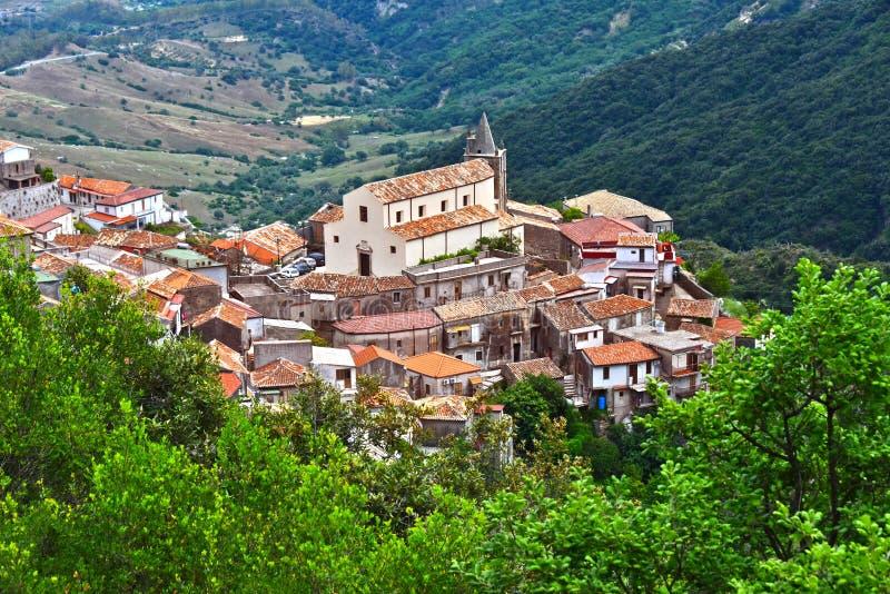 Byn av Staiti i landskapet av Reggio Calabria, Italien arkivfoton