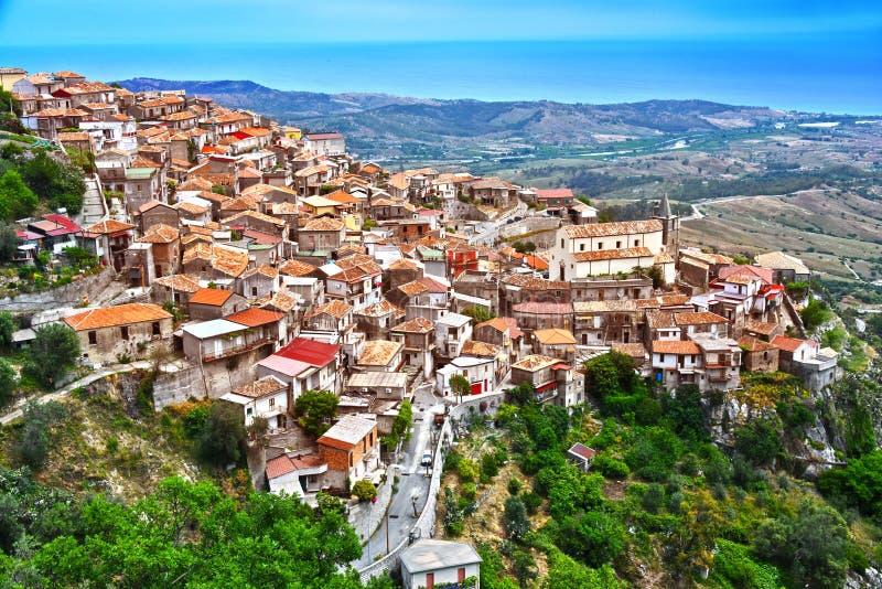Byn av Staiti i landskapet av Reggio Calabria, Italien arkivfoto