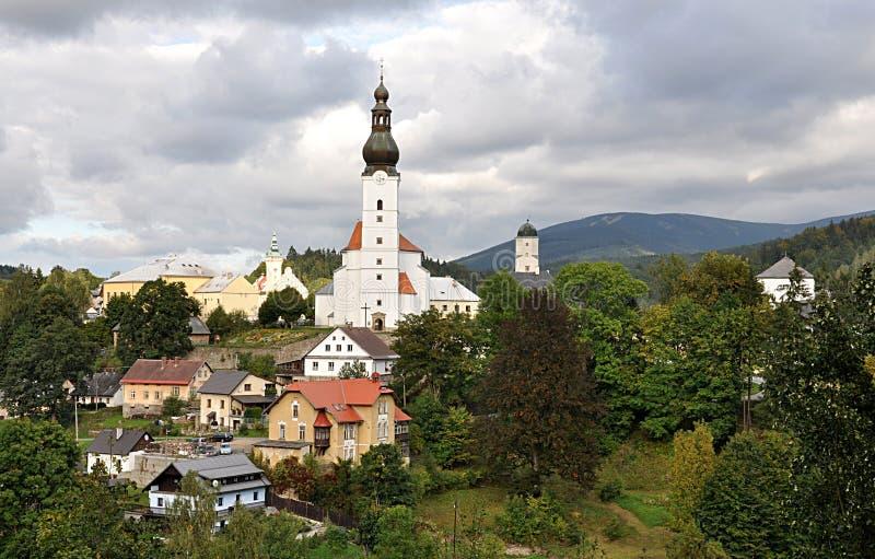 Byn Branna, Tjeckien, Europa arkivbilder