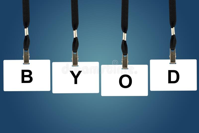 BYOD或带来您自己的设备 免版税库存图片