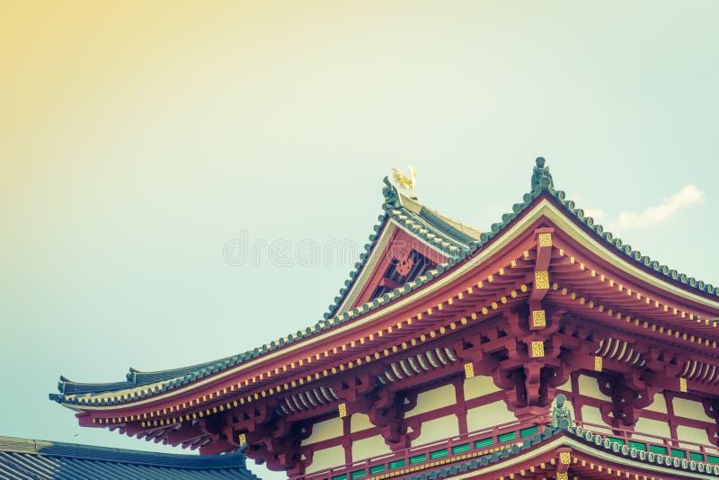 Byodo-dans le temple Kyoto, le Japon (image filtrée vintage traité images libres de droits