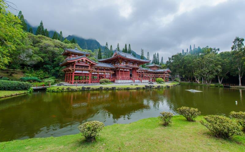 Byodo-en el templo, valle de los templos, Hawaii imagenes de archivo