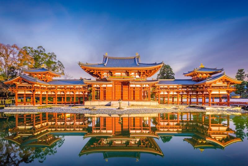 Byodo-i templet Kyoto, Japan arkivbilder