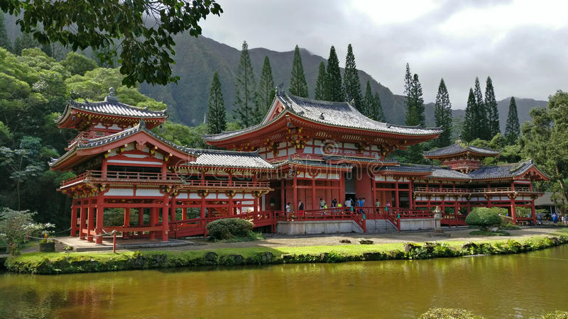 Byodo-No templo, Oahu, Hawaiii foto de stock