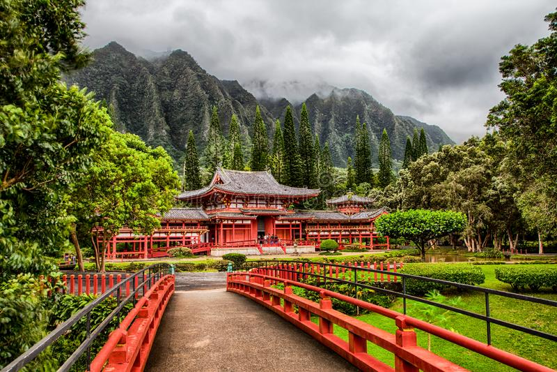 Byodo-in Tempel in Ahuimanu, Hawaï royalty-vrije stock fotografie