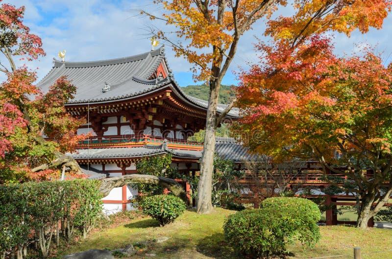 Byodo-in tempel is een Boeddhistische tempel in Uji, de Prefectuur van Kyoto, Japan stock afbeelding