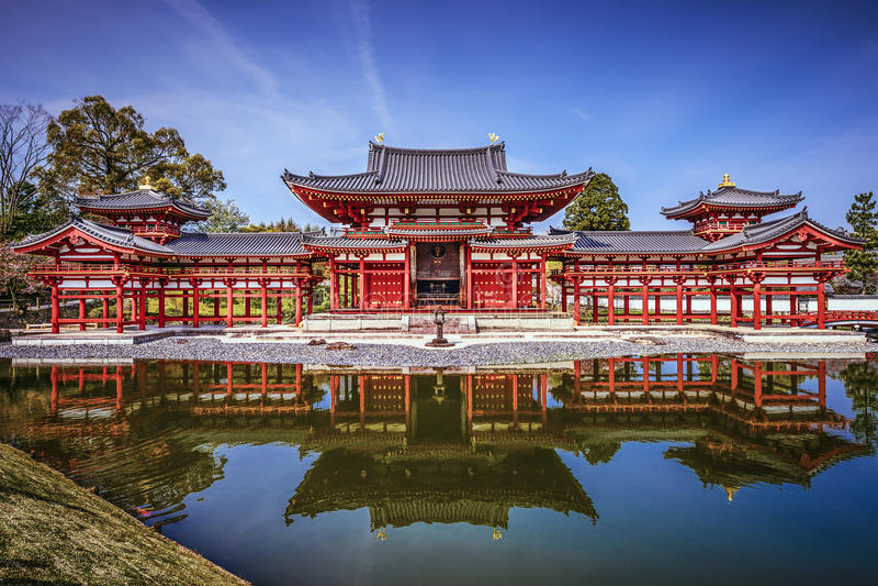 Byodo-in Tempel in Kyoto, Japan stock afbeelding