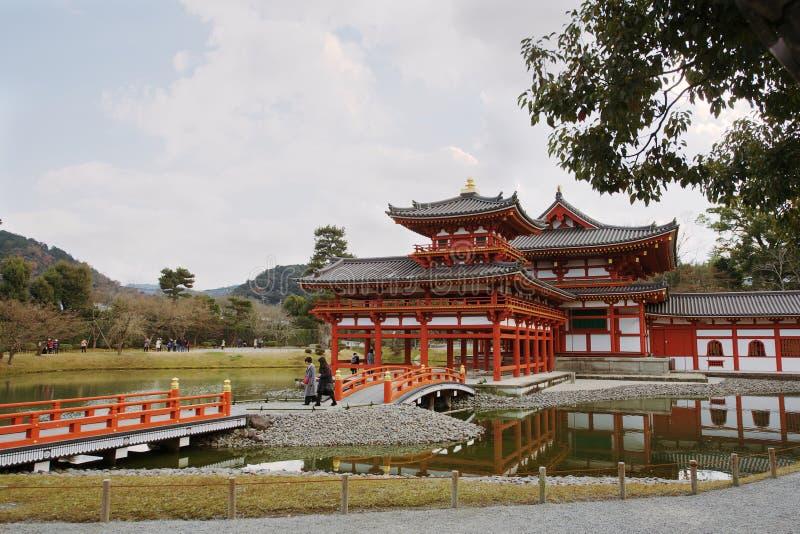 Byodo-in tempel in Uji, Japan stock foto's
