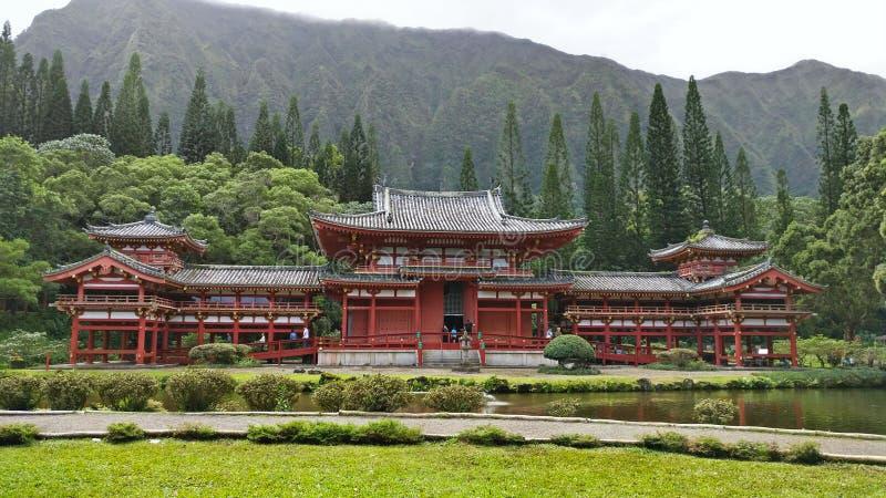 Byodo-in tempio, valle delle tempie, Oahu, Hawai fotografie stock libere da diritti