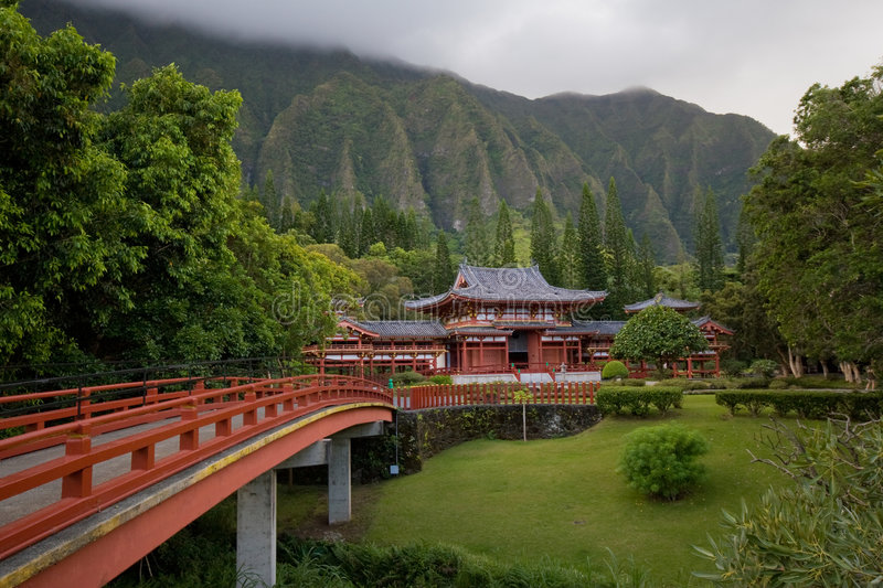 Byodo-In Temple, Oahu, Hawai royalty free stock images