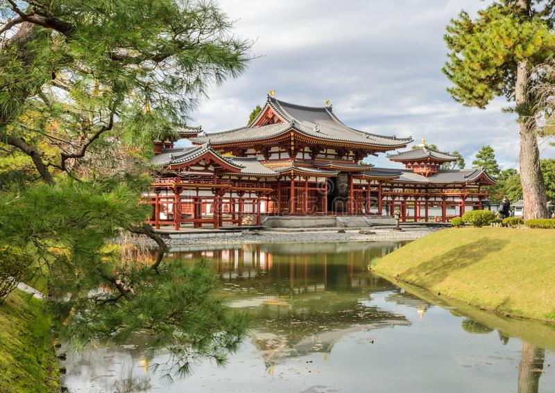 Byodo-in temple Phoenix Hall is a Buddhist temple in Uji, Kyot royalty free stock photography