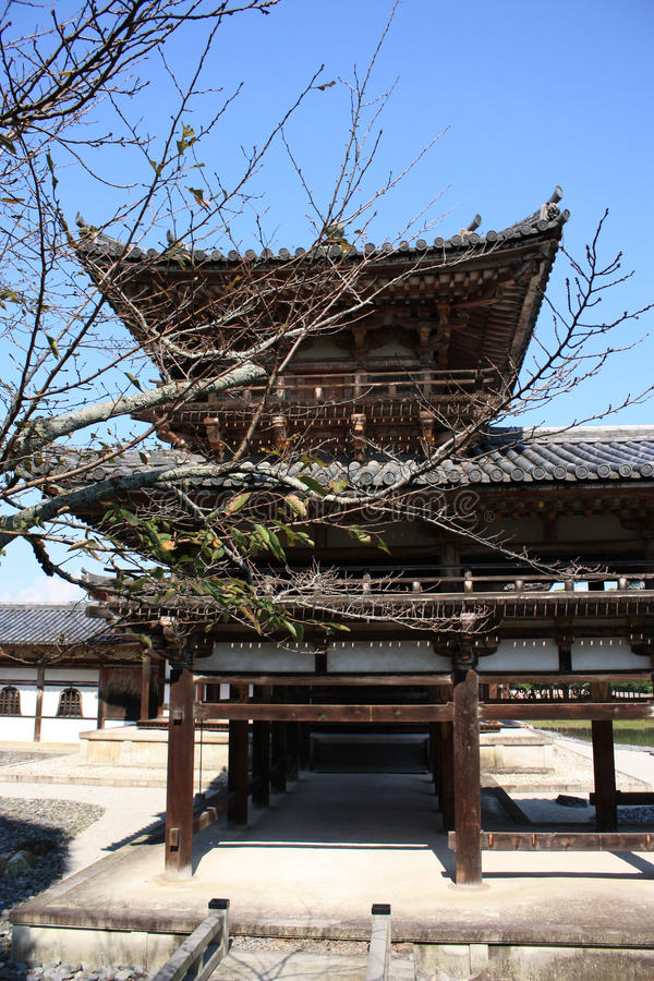 Byodoin菲尼斯大厅寺庙, Uji,京都日本 库存照片