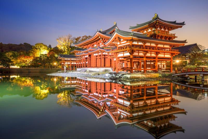 Byodoin Phoenix Corridoio di Kyoto immagini stock libere da diritti