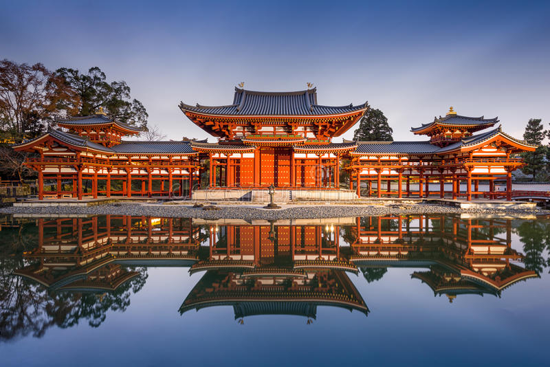 Byodoin Phoenix Hall de Kyoto photo stock