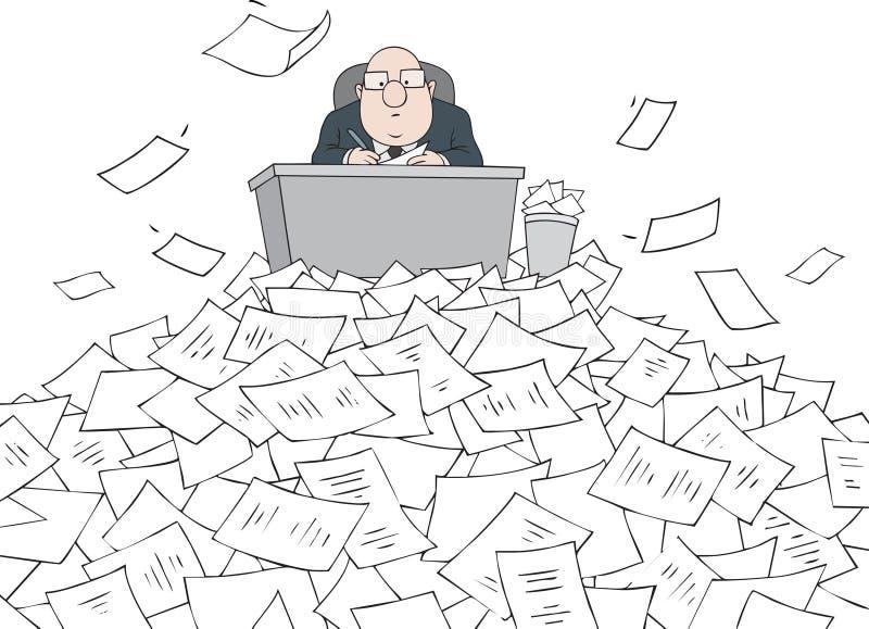 byråkrat stock illustrationer