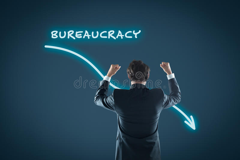 Byråkratiförminskning arkivbild