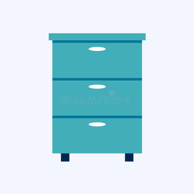 Byr? nattduksbord vektor illustrationer