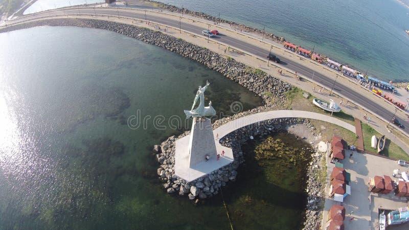 Byrd oka widoku Bułgaria Nessebar słoneczny dzień 2014 obraz stock