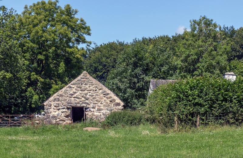 Byre del Cae Adda, museo nacional de la historia del St Fagans, Cardif, País de Gales fotos de archivo
