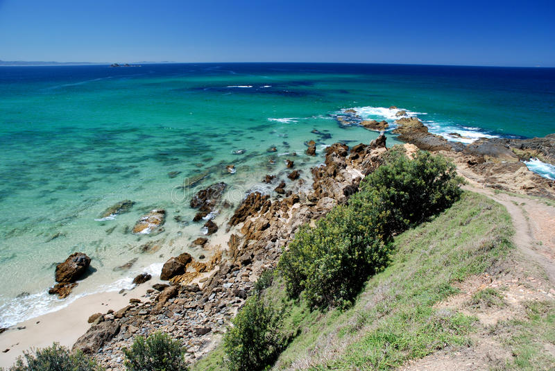 Byron Bay. Lookout in Byron Bay to eastest point of Australia royalty free stock image