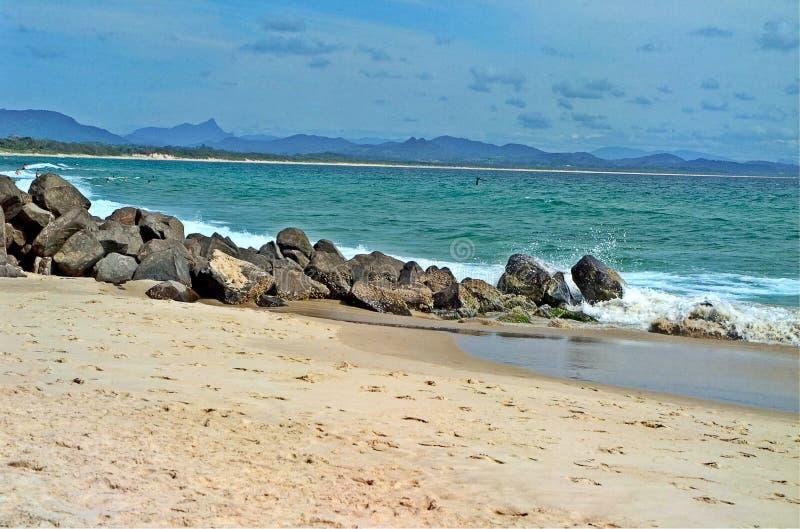 Byron Bay Beach stock afbeelding