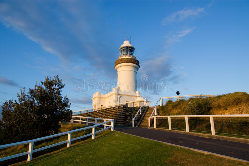 Byron Bay Light. House, the easternmost in Australia. At Cape Byron, coastal New South Wales royalty free stock photography