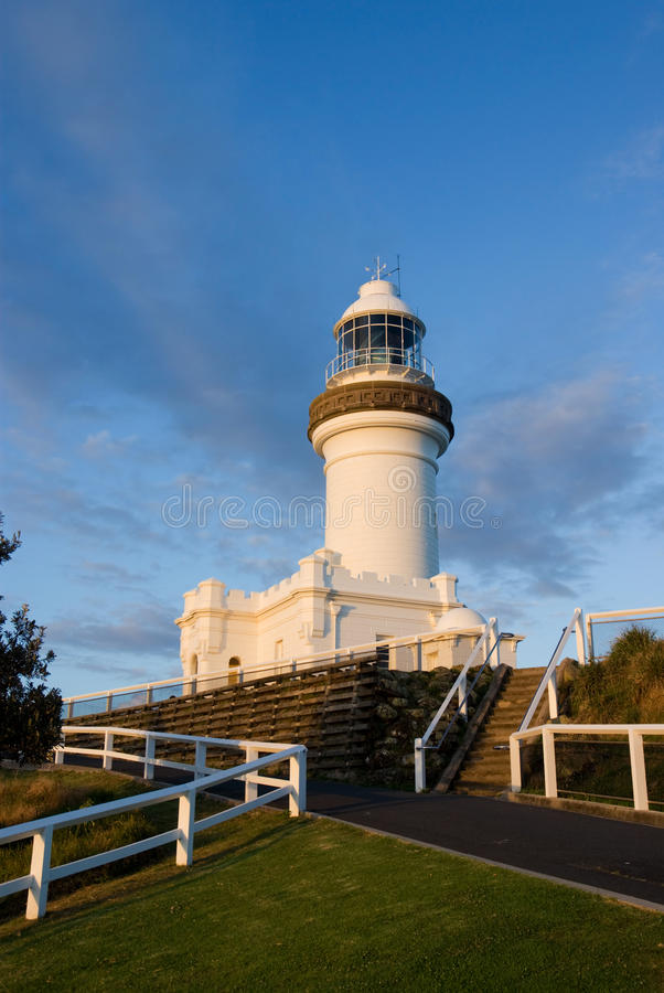 Byron Bay Light. House, the easternmost in Australia. At Cape Byron, coastal New South Wales royalty free stock photos
