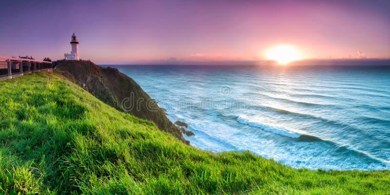 Byron bay lighthouse royalty free stock photos
