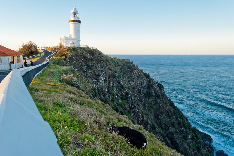 Byron Bay lighthouse. And panorama view, Australia stock photography