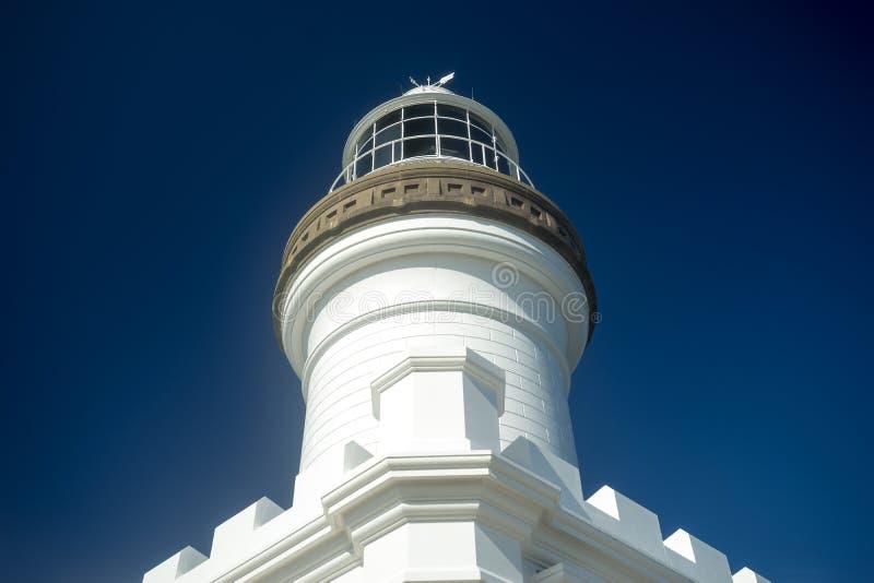 Byron Bay Lighthouse Australia Symmetric-Mening royalty-vrije stock afbeelding
